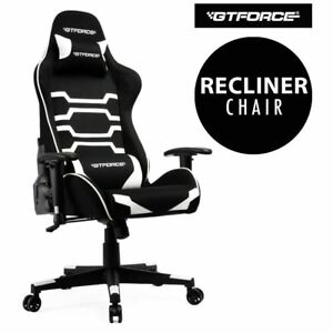 GTFORCE-EVO-CT-WHITE-RECLINING-SPORTS-RACING-GAMING-OFFICE-DESK-PC-FABRIC-CHAIR