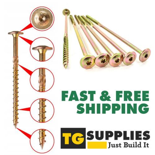 Wafer Screws Flange TORX Wood  Screws Sleeper Decking Structural Screws Timber