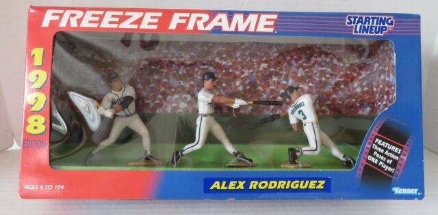 1998 Alex Rodriguez Seattle Mariners 3 figure Freeze Frame Pack Starting Lineup