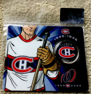 Canada-2009-50-Cent-Montreal-Canadians-No-2-Card-Never-Opened