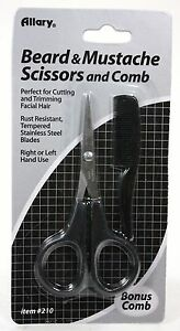beard and mustache scissors comb set shears trimmer set for facial hair ebay. Black Bedroom Furniture Sets. Home Design Ideas
