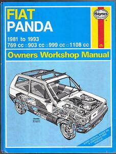 fiat panda 1981 1993 haynes owners workshop manual ebay rh ebay co uk fiat panda workshop manual free fiat panda workshop manual 2004