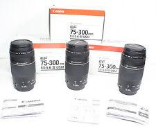 CANON EF 75-300mm III USM Ultrasonic Lens for EOS T6 T5i T6i 70D 6D 7D 5D II etc