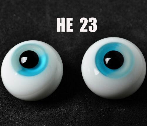 Blue /& White Iris Glass Round BJD Eyes for MSD DOD DZ AOD Volks Dollfie Outfits
