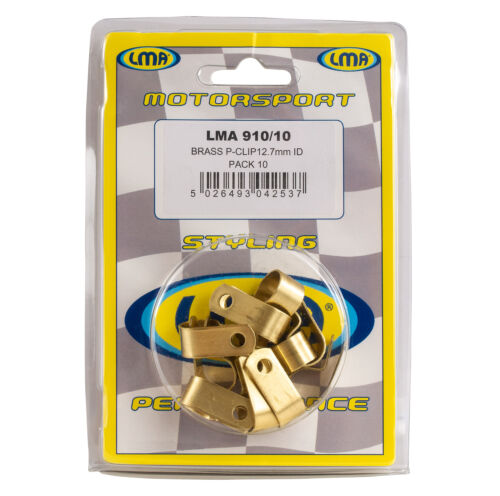 LMA Brass P-Clips for Plumbing Pack of 10 x 12.7mm Wiring Cables
