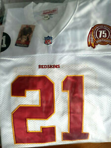 Details about NEW! Redskins #21 Sean taylor Throwback White edition Dual Patch SEWN Jersey MEN