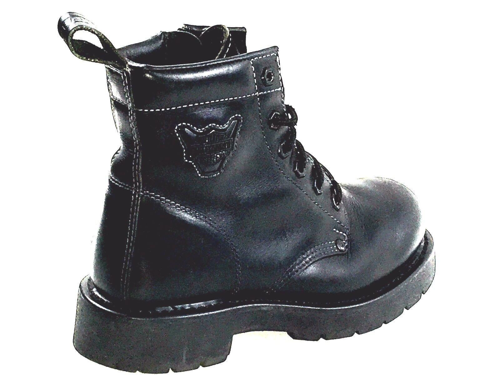 Harley Davidson Zipper Sides Boots Black Men's Size 7 Usa. Wns. Size 9 US