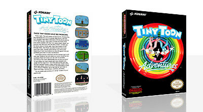 Tiny Toon Adventures Nes Replacement Spare Game Case Box Cover Art Only 7437729525591 Ebay