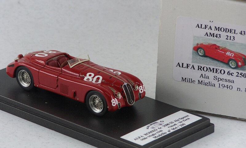 AM43213 ALFA ROMEO 6C 2500 S AILE ÉPAISSE MM 1940   80 CLOUS - DE ZORZI