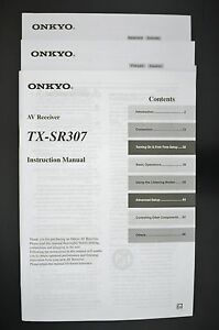 onkyo tx sr307 original av receiver manual instruction manual ebay rh ebay com au onkyo av receiver tx-sr307 manual Onkyo TX- 8050