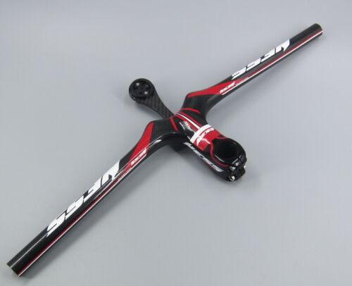 Full Carbon Bike flat Handlebar 58-72 Integrated Bar Stem 9-12cm Bracket Garmin