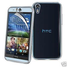 Tough Thin Clear TPU Gel Skin Case Cover & Screen Guard for HTC Desire 530