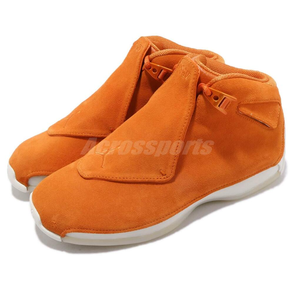 Nike Air Jordan 18 Retro Campfire Orange Suede homme Basketball chaussures AA2494-801
