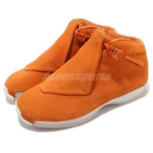 purchase cheap 4a1fc 5e805 Image is loading Nike-Air-Jordan-18-Retro-Campfire-Orange-Suede-