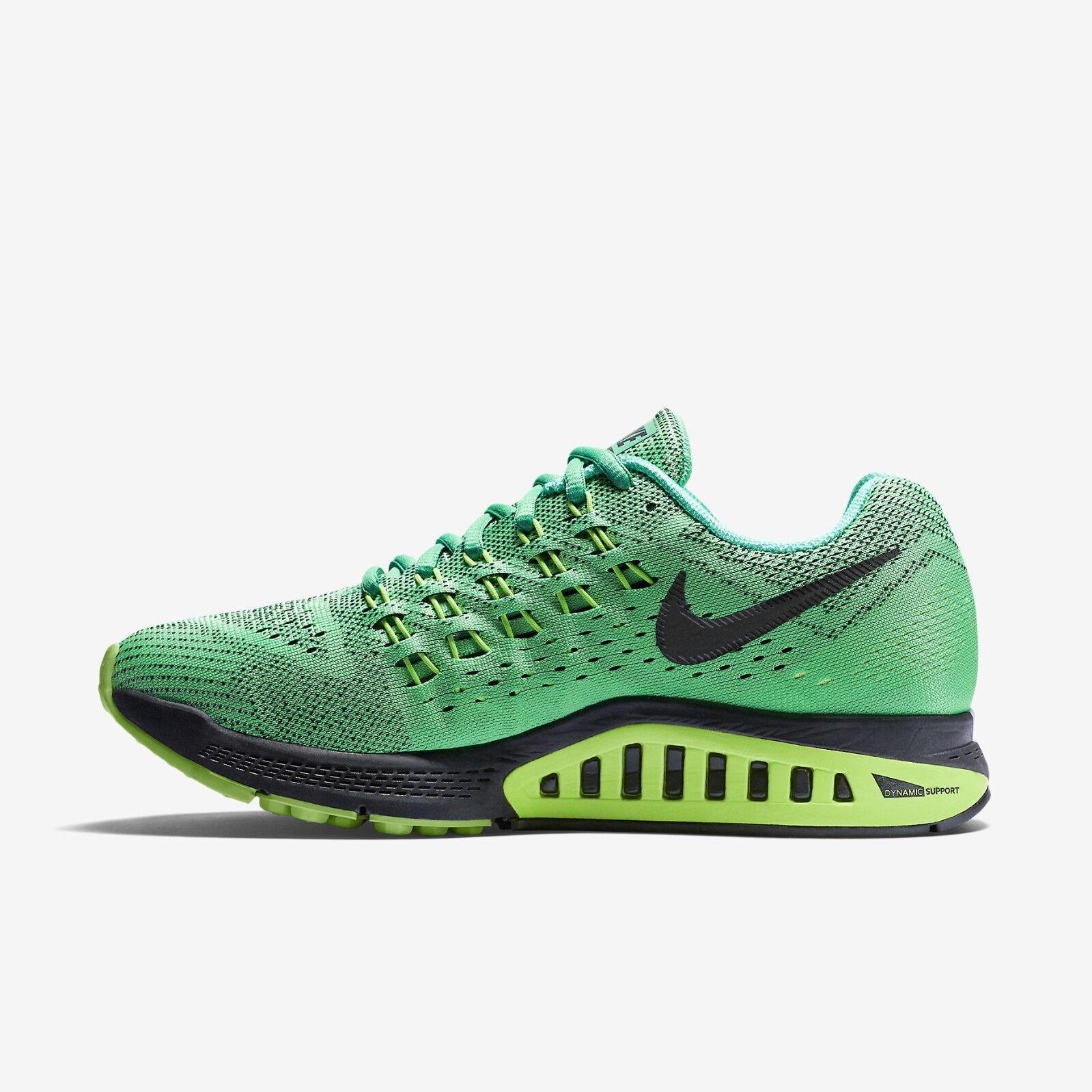NUOVO Autentico Nike Air Zoom Structure 18 EU Verde Scarpe Da Corsa EU 18 36.5 US 6 a38750