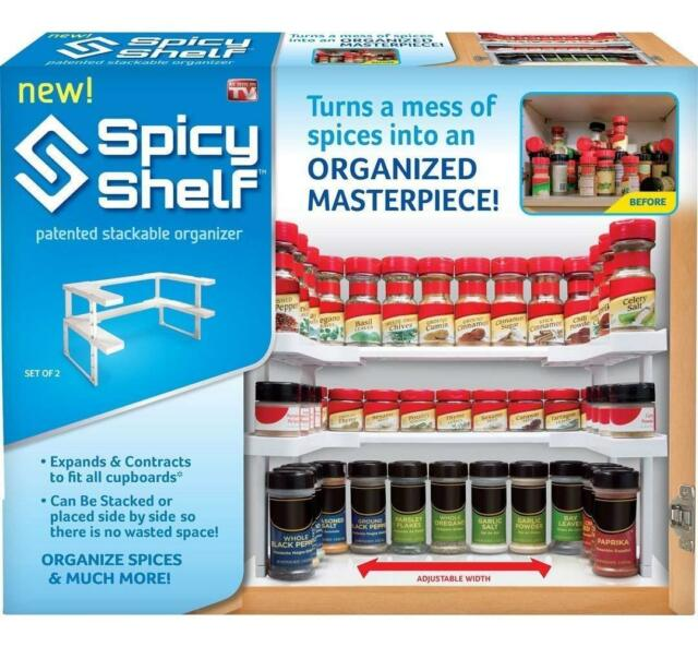 Spicy Shelf Patented Stackable Organizer LOW PRICE