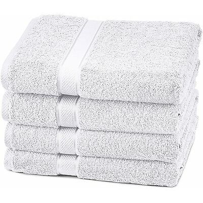 Premium 4 Bath Towel Lot 100%Cotton Egyptian Set Silky Softness Highly Absorbent