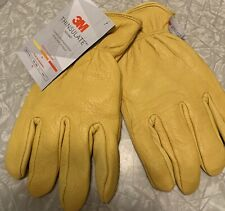 3m Insulated Leather Work Gloves Mens Size Xl Mid Warmth Weight Thinsulate Lined