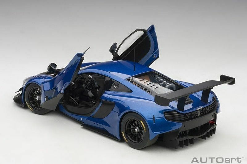 Autoart McLaren 650 S GT3 bleu noir Accents 1 18New  Super Chaud Voiture