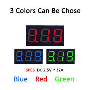 Mini-Digital-DC-3-30V-0-36-034-LED-Panel-Voltmeter-2-Digital-Display-Voltage-Meter