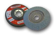 """4-1//2/"""" Aluminium Oxide Flap Discs Abracs 115mm"""