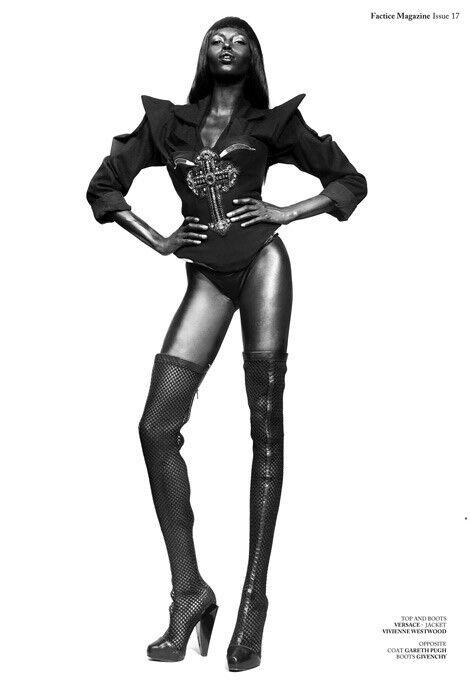 Nueva Versace alto del muslo botas de de de Malla de Cuero Negro 37 - 7  Garantía 100% de ajuste