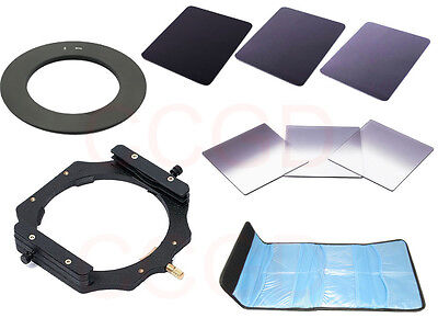 ND2 ND4 ND8 + Gradual ND2/ND4/ND8 filter Holder + 82mm Adapter Ring 100mm filter