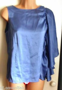 Pied-A-Terre-Frill-Batwing-Sleeve-Shell-Top-Sky-Blue-BNWT