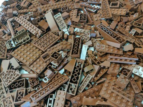 Lego 200 PCS Brown Bricks Plates Parts Bulk Lot RANDOM PIECES per order
