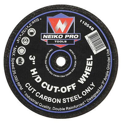 "NEIKO 11054B 10 PIECE Cut-Off Wheels Metal 3/"" x 1//32/"" x 1//4/"" Arbor 60 Grit"