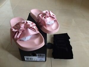puma rihanna pink bow slide pink fenty all sizes uk 3 4 5 new ebay