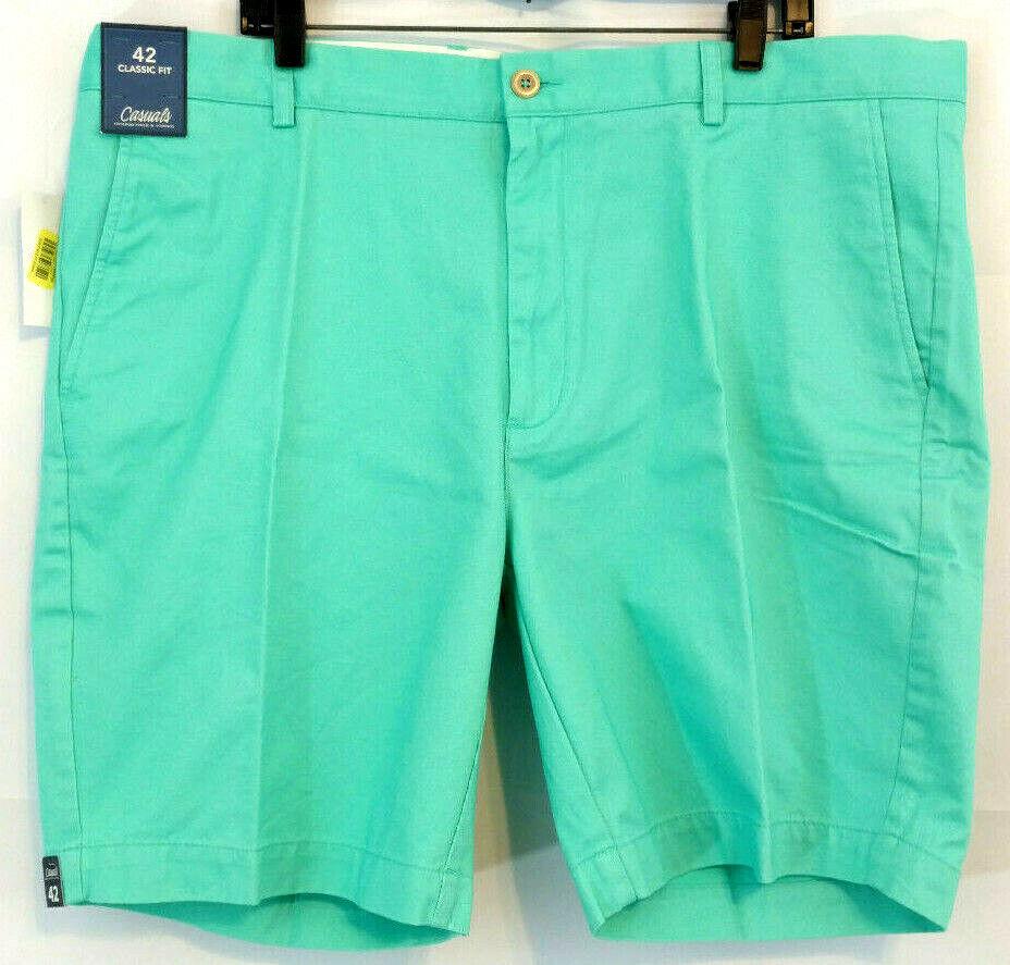 1952345c97 Roundtree Yorke Sz 42 Mens Shorts Flat Front Aqua Mint Cotton Fit Green  Classic nbnkgz18151-Shorts