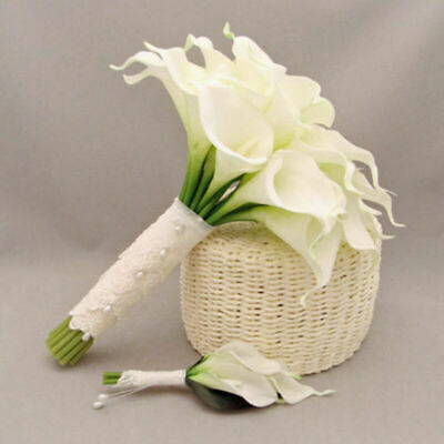 Calla Blüht Nicht : wei k nstliche calla lilie bl ht blumenstrau garden w9u5 mode home hochze j0x9 ebay ~ Watch28wear.com Haus und Dekorationen