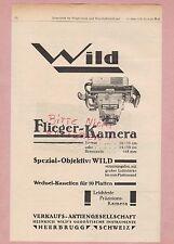 HEERBRUGG, Werbung 1928, Heinrich Wild's Geodätische Instrumente Flieger-Kamera