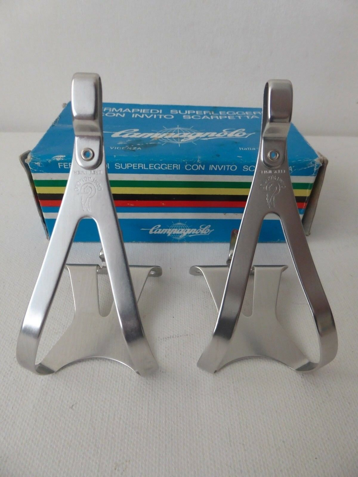 Vintage NOS Classic 80s'Campagnolo Super Record Toeclips  SMALL 4 vintage ride  buy cheap new