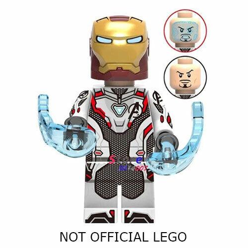 Lego Marvel Avengers Iron Man Minifigure Endgame Quantum Realm Suit