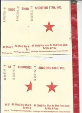 vintage lot 6 shoot the Star out from amusement Park arcade game  FREE SHIPPING