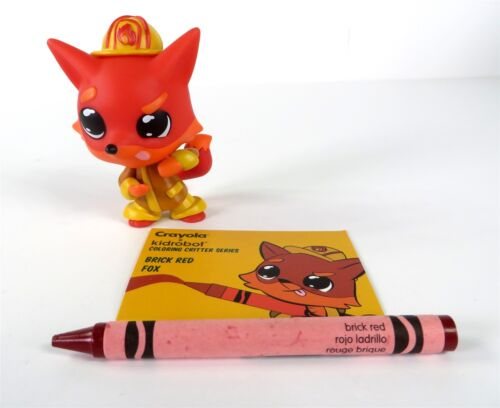 Kidrobot Crayola Coloring Critters Vinyl Series Brick Red Fox Figure NEW