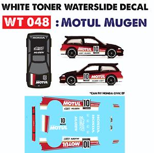 Wt048 White Toner Waterslide Decals Motul Mugen For Custom 1 64 Hot Wheels Ebay