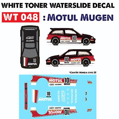 WT232 White Toner Waterslide Decals /> FLYING CUSTOM 2/>For Custom 1:64 Hot Wheels