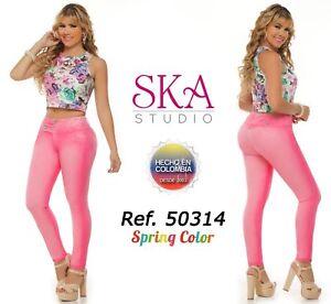 Jeans Colombiano Levanta Cola Push Up 50314 Ebay