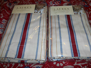 New-Ralph-Lauren-Two-Standard-Shams-Marrakesh-Stripe