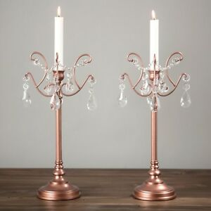 Details About 2 Piece Candlestick Candle Holder Set Candelabra Light Home Wedding Decor Accent