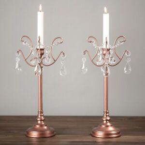 Image Is Loading 2 Piece Candlestick Candle Holder Set Candelabra Light