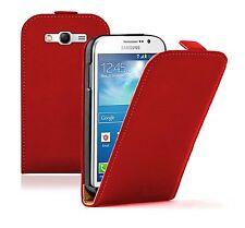 Ultra Slim Cuero Rojo Funda Pouch Para Samsung Galaxy Grand Neo gt-i9060