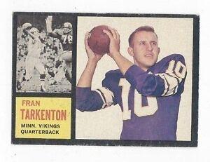 1962-Topps-Football-Card-90-Fran-Tarkenton-Minnesota-Vikings-VGEX