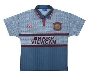 Manchester United 1995-96 ORIGINALE AWAY SHIRT (OTTIMO) Youth Soccer Jersey
