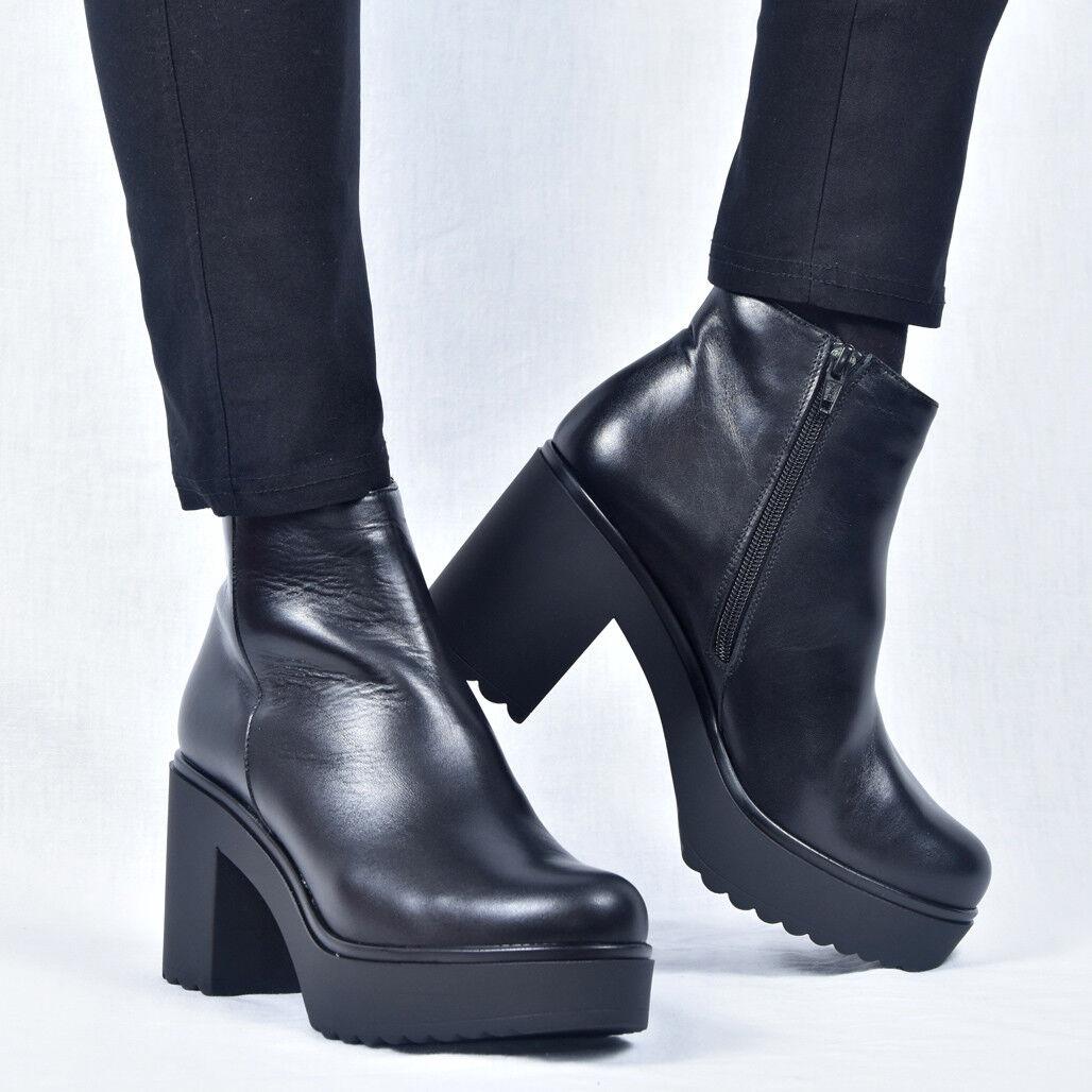 Gadea cuero cuero señora botines botas Boot cuero cuero Gadea negro nuevo 37 38 af7dd6