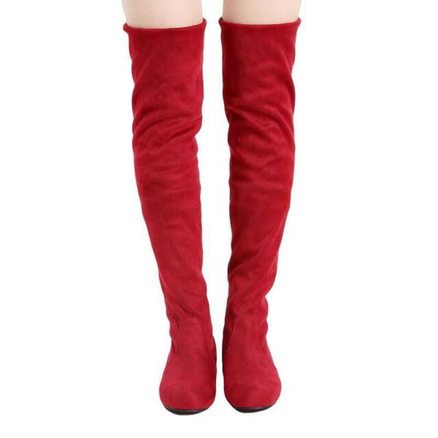 d310e03a289 ... Knee Thigh High Suede Long BOOTS E Red 7.5. About this product. Picture  1 of 13  Picture 2 of 13  Picture 3 of 13  Picture 4 of 13. 10. Picture 13  of 13