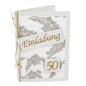 Details Zu Einladungskarte Goldene Hochzeit Elegante Ornamente